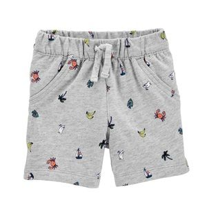 NWT Carter's Gray Pull-On French Terry Shorts 24mo